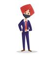 punjabi businessman vector image vector image
