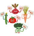 rally of vegetables healthy food healthy vector image