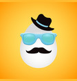 retro easter egg with hat mustache and glasses vector image vector image