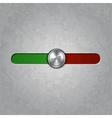 round metal balance knob vector image