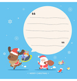 Santa and reindeer character - Merry Christmas gre vector image vector image