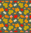 seamless pattern leaves background vector image vector image