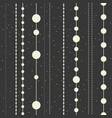 seamless pattern of chains from christmas vector image vector image
