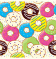 seamless pattern with bakery and patisserie vector image vector image