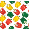 seamless pattern with bell pepper vector image vector image