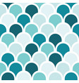 seamless turquoise tone scale pattern background vector image