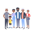 set of different african american couples and vector image