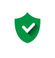 shield with check mark green icon protection and vector image vector image