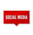 social media red tag vector image vector image
