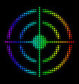 spectral colored pixel target bullseye icon