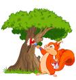 Squirrel painter vector image vector image