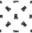 three books pattern seamless black vector image vector image