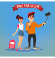 Tourists Making Selfie Travel Banner Tourism vector image
