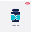 two color coffee cup icon from brazilia concept vector image vector image