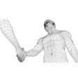 two men shaking hands vector image