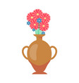vase with flowers bouquet vector image vector image