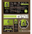 Vegetarian and vegan healthy restaurant cafe menu vector image vector image