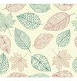 Vintage drawing fall leaves seamless pattern vector image vector image