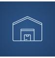 Warehouse line icon vector image vector image