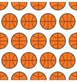Seamless pattern of basketball sports balls vector image