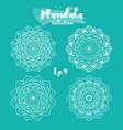 set of mandala decorative and ornamental design vector image