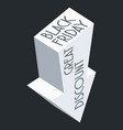 a black friday sale arrow sign vector image vector image
