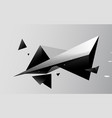 abstract black triangles futuristic technology vector image vector image