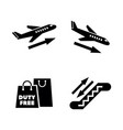 Airport simple related icons