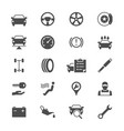 auto service flat icons vector image