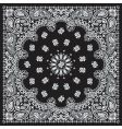 bandana black vector image vector image