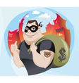 Bank Robber vector image vector image