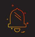 bells icon design vector image