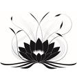 Black japanese lotus vector image