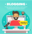 blogger workspace background vector image vector image