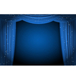 blue curtains vector image vector image