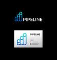blue pipeline logo vector image vector image