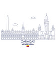 caracas city skyline vector image vector image