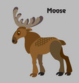 cartoon moose vector image vector image