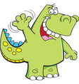 Cartoon Waving Dinosaur vector image vector image