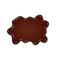chocolate sweet splash chocolate liquid blot vector image vector image