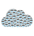 cloud mosaic of alien invasion icons vector image