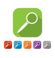Color set of flat search icon vector image