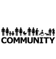 community concept with people pictograms vector image vector image