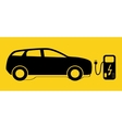Concept Electric Car on batteries and Fuel vector image vector image
