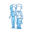 couple parents mother and father with son vector image vector image