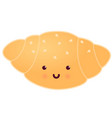 croissant smiling icon sweets vector image vector image