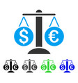 currency balance flat icon vector image vector image