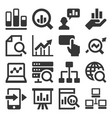 data analysis icons set on white background vector image