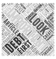 debt consolidation nonprofit Word Cloud Concept vector image vector image