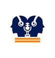 digital sound recording logo vector image vector image
